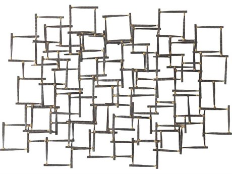 Arteriors Home Natural Iron with Brass Welds Wall Sculpture ARH6347