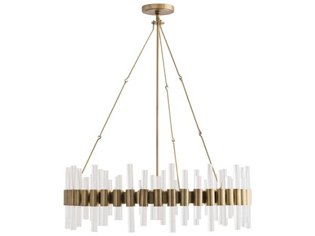Arteriors Home Haskell Antique Brass 34'' Wide Medium Chandelier ARH89055
