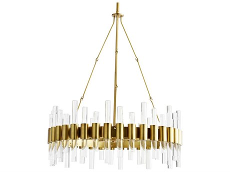 Arteriors Home Haskell Antique Brass 26'' Wide Medium Chandelier ARH89094
