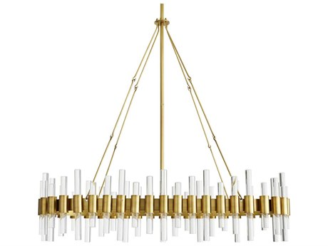 Arteriors Home Haskell Antique Brass 43'' Wide Island Light ARH89130