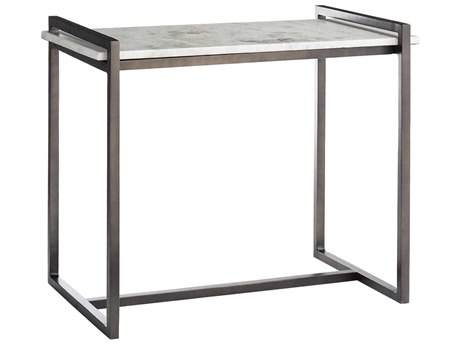 Arteriors Home Hollis White Marble 26''L x 16''W Rectangular End Table ARH6392