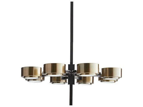 Arteriors Home Jalen Bronze Eight-Lights 29.5'' Wide Chandelier ARH89974