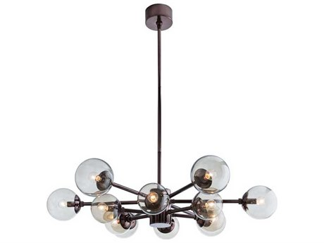 Arteriors Home Karrington Brown Nickel 12-Lights 37'' Wide Chandelier ARH89017