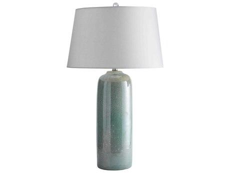 Arteriors Home Keelan Misty Jade Reactive Glaze Buffet Lamp ARH15345135