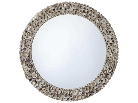 Arteriors Home Kipling Natural Oyster Shell 42'' Round Wall Mirror ARH5416