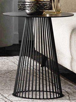 Arteriors Home Lou Black 18'' Wide Round Pedestal Table ARH6047