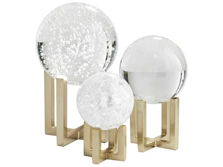 Arteriors Home Macarthur Clear Sculpture (Set of 3) ARH9548