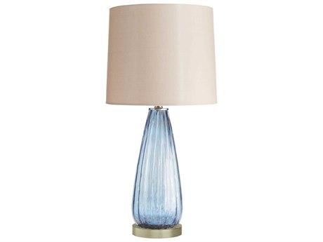 Arteriors Home Magellan Sapphire With Metallic Highlights Glass Buffet Lamp ARH17452605