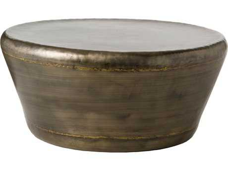 Arteriors Home Malcom Dark Silver with Brass Welds 35.5'' Round Coffee Table ARH6238