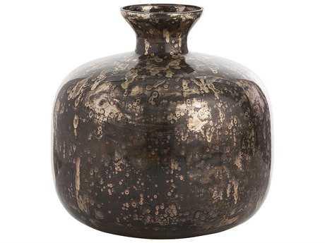 Arteriors Home Marbled Black Antique Mercury Glass Vase ARHDK6018