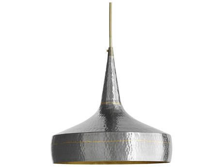 Arteriors Home Mason Dark Silver with Brass 13'' Wide Pendant Light ARH42414