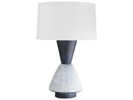 Arteriors Home Mcallister Indigo With Sketch Pattern Buffet Lamp ARH11016989
