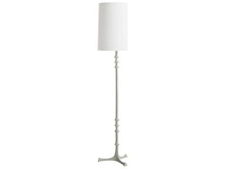 Arteriors Home Nathan White Gesso Iron Floor Lamp ARH73141139