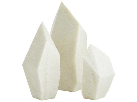 Arteriors Home Nerine Faux Marble Sculpture (Set of 3)