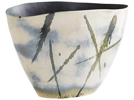 Arteriors Home Newberry Blush Abstract Reactive Glaze Vase ARH1025