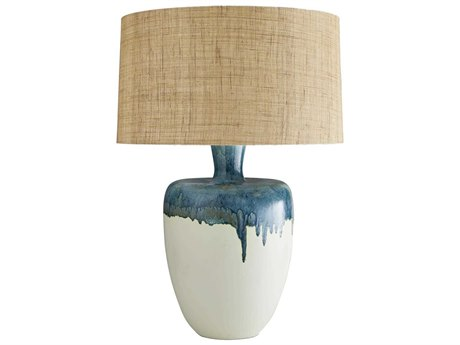 Arteriors Home Nordic Eggshell With Capri Reactive Glaze Buffet Lamp ARH11017979