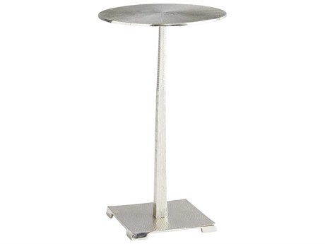 Arteriors Home Otelia Polished Nickel 12'' Wide Round Pedestal Table ARH6917