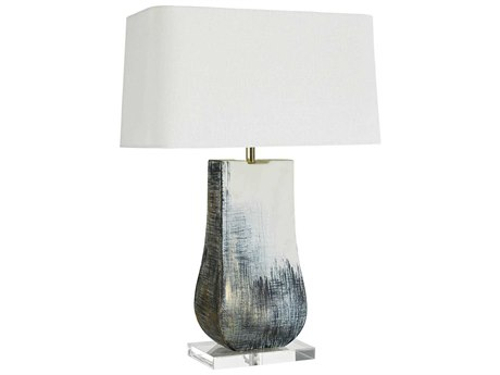Arteriors Home Page Satin Greige & Denim Linen Buffet Lamp ARH11127116
