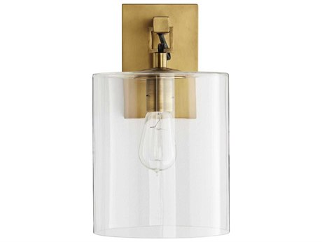 Arteriors Home Parrish Antique Brass Glass Vanity Light ARH49086