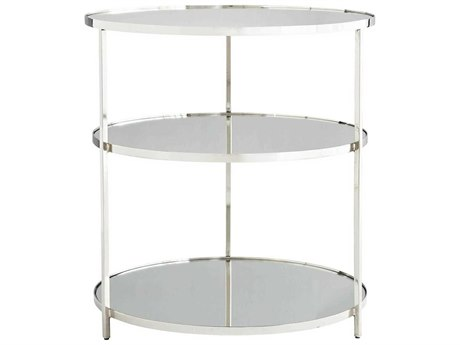 Arteriors Home Percy Polished Nickel 28'' Wide Round End Table ARH6907