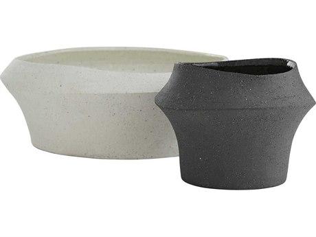 Arteriors Home Pitman Charcoal / White Vase (Set of 2) ARH7541