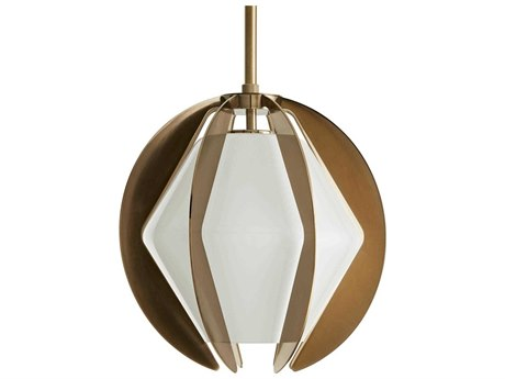 Arteriors Home Puzol Heritage Brass 13'' Wide Glass Pendant ARH49233