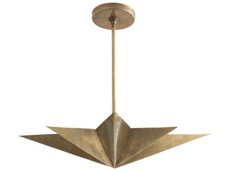 Arteriors Home Rex Antique Brass Four-Lights 24'' Wide Pendant Light