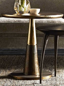 Arteriors Home Rochester Antique Gold 24'' Wide Round Pedestal Table ARH4589