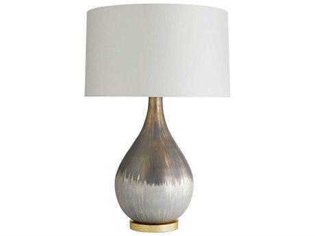Arteriors Home Romy Satin Silvered Bronze Glass Buffet Lamp ARH44415295