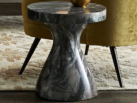 Arteriors Home Serafina Verde Faux Marble 15'' Wide Round Pedestal Table ARH5549