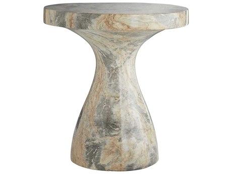 Arteriors Home Serafina Sahara Faux Marble 20'' Wide Round Pedestal Table ARH5550