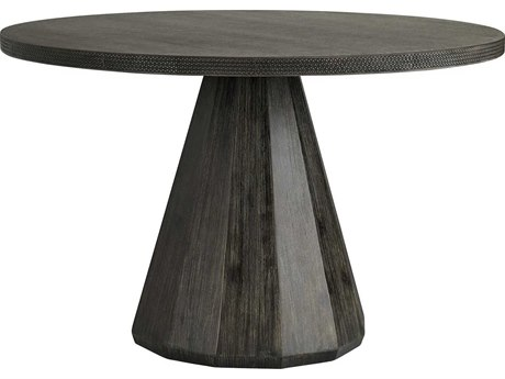 Arteriors Home Seren Dark Ash / Lava Stone 47'' Wide Round Dining Table ARH5548