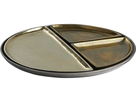 Arteriors Home Solano Distressed Brass Serving Tray (Set of 4) ARH4584