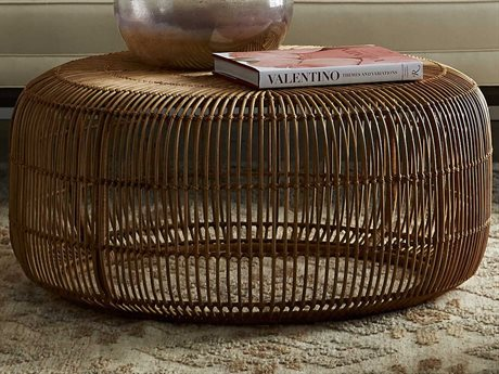 Arteriors Home Somerset Natural 33'' Wide Round Coffee Table ARH5076