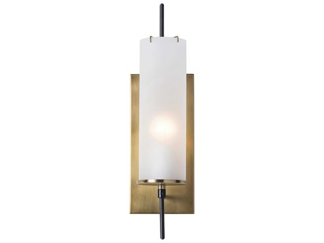 Arteriors Home Stefan Antique Brass with Frosted Glass Wall Sconce ARH49999