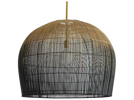 Arteriors Home Swami Natural And Black Ombre 32'' Wide Pendant ARH45061