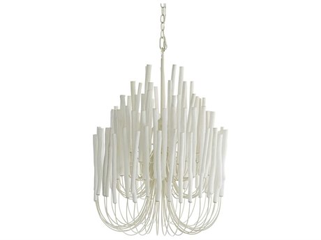 Arteriors Home Tilda White Washed Five-Lights 21'' Wide Chandelier ARH89559