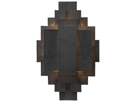 Arteriors Home Trinidad Blackened Iron Rustic Lodge Vanity Light ARH44325