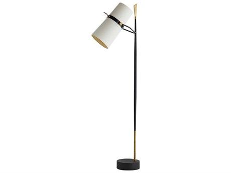 Arteriors Home Yasmin Antique Black & Antique Brass Two-Lights Floor Lamp ARH79680
