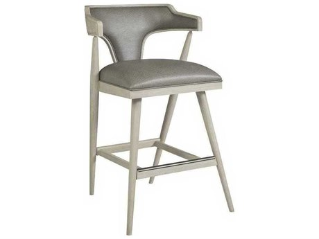 Artistica Arne Mocha Gray / White Arm Bar Height Stool ATS210189601