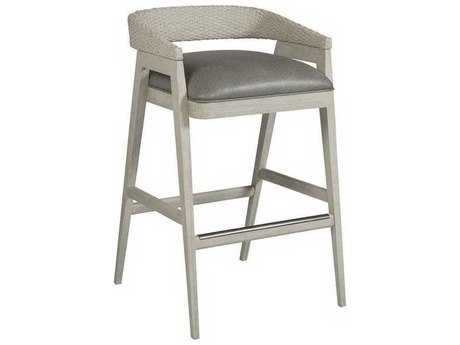 Artistica Arne Mocha Gray / White Arm Bar Height Stool ATS210189801