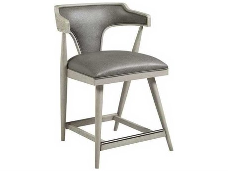 Artistica Arne Mocha Gray / White Arm Counter Height Stool ATS210189501