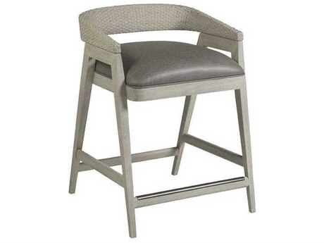Artistica Arne Mocha Gray / White Arm Counter Height Stool ATS210189701