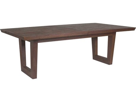 Artistica Home Brio Marrone 88'' - 124''L x 48''W Rectangular Extension Dining Table