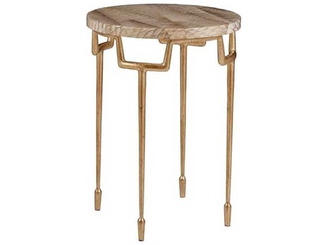 Artistica Calypso Veneered Parrot / Gold Leaf 16'' Wide Round End Table
