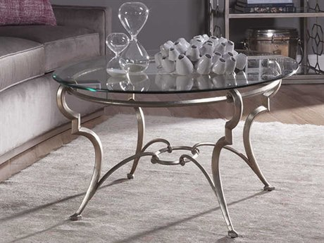 Artistica Home Colette Champagne Foil 45''L x 33''W Oval Cocktail Table