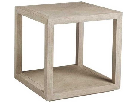 Artistica Credence Bianco 26'' Wide Square End Table