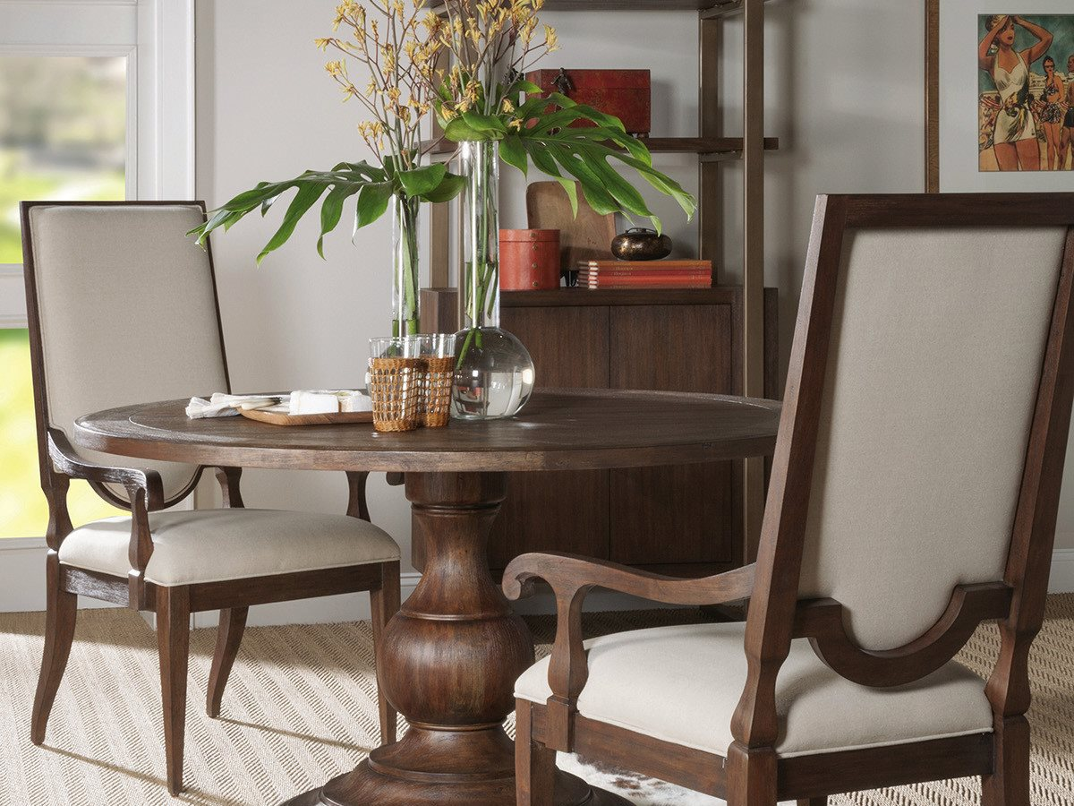 Artistica Home Axiom Marrone 54 Wide Round Dining Table Ats2005870c42