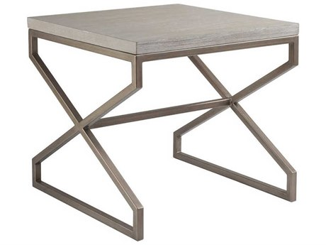 Artistica Home Edict Bianco 26'' Wide Square End Table ATS208895740