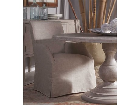 Artistica Home Fiona Natural Khaki Dining Arm Chair with Slipcover ATS208488101